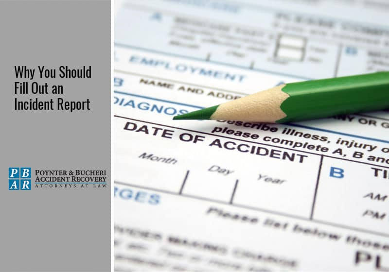 filling out an incident report