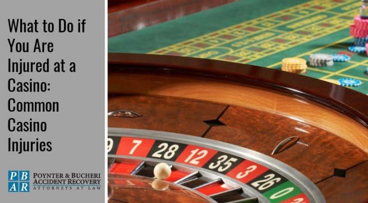 common casino injuries